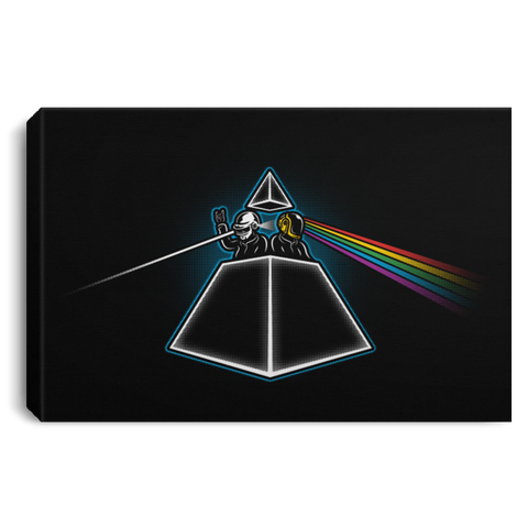 "Housewares Black / 12"" x 8"" DAFTSIDE OF THE MOON Premium Landscape Canvas"