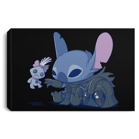 "Housewares Black / 12"" x 8"" Darth Stitch Premium Landscape Canvas"
