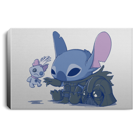 "Housewares White / 12"" x 8"" Darth Stitch Premium Landscape Canvas"