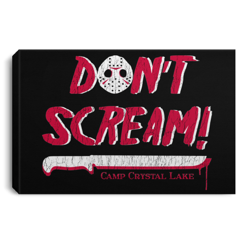 "Housewares Black / 12"" x 8"" Dont Scream Premium Landscape Canvas"