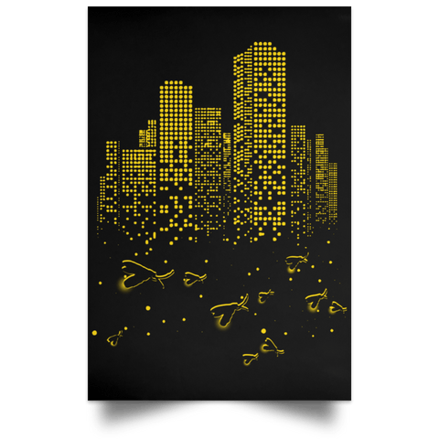 "Housewares Black / 12"" x 18"" Firefly City Portrait Poster"