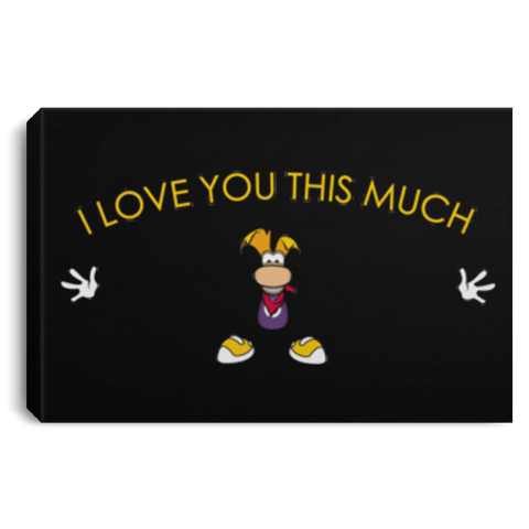 "Housewares Black / 12"" x 8"" I Love You This Much Premium Landscape Canvas"