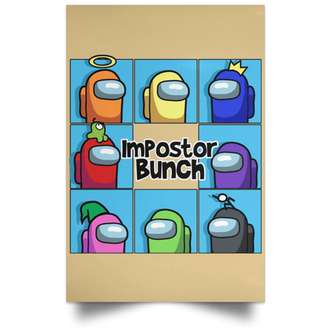 "Housewares Tan / 12"" x 18"" Imposter Bunch Portrait Poster"