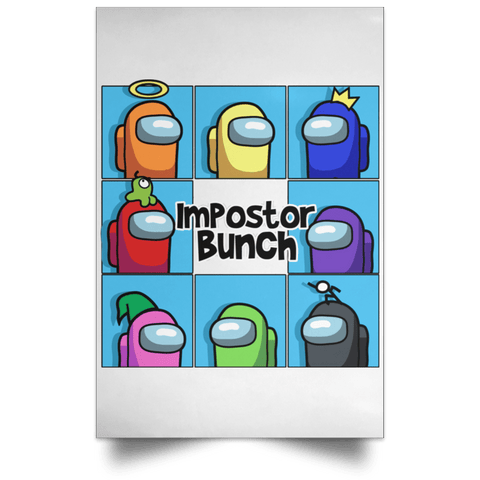 "Housewares White / 12"" x 18"" Imposter Bunch Portrait Poster"