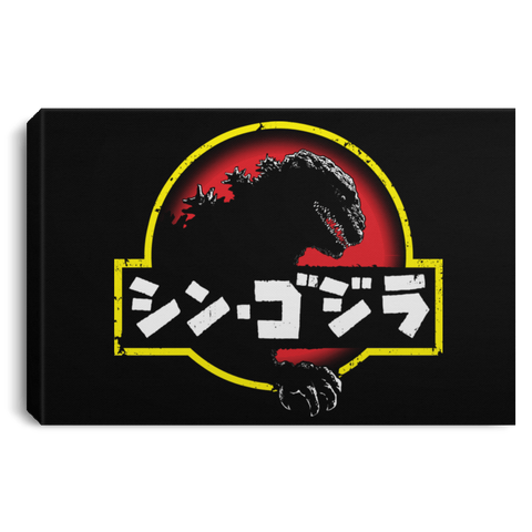 "Housewares Black / 12"" x 8"" King Kaiju (2) Premium Landscape Canvas"