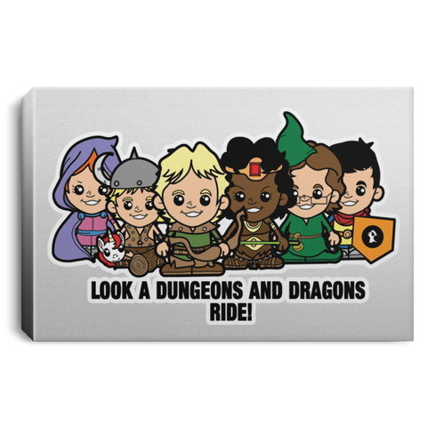 "Housewares White / 12"" x 8"" Lil Dungeons and Dragons Premium Landscape Canvas"