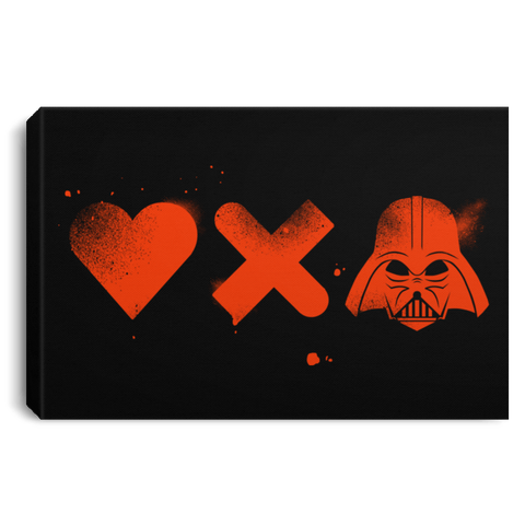 "Housewares Black / 12"" x 8"" Love Darth Premium Landscape Canvas"