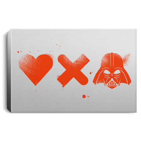 "Housewares White / 12"" x 8"" Love Darth Premium Landscape Canvas"