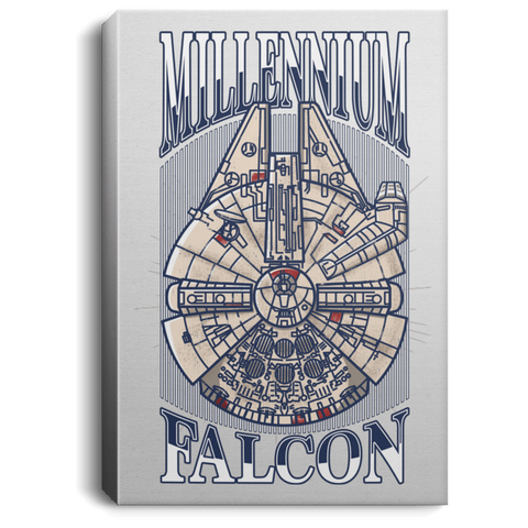"Housewares White / 8"" x 12"" Millennium Falcon Premium Portrait Canvas"