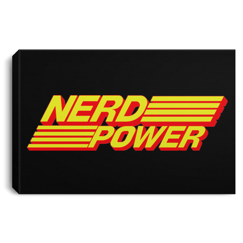 "Housewares Black / 12"" x 8"" Nerd Power Premium Landscape Canvas"