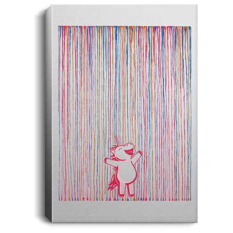 "Housewares White / 8"" x 12"" Rainbow Rain Premium Portrait Canvas"