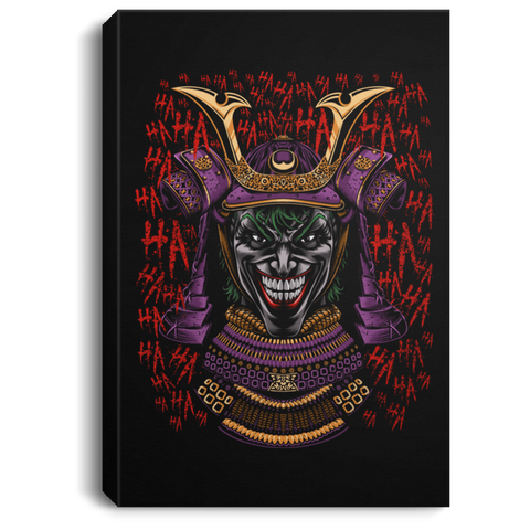 "Housewares Black / 8"" x 12"" Samurai Joke Premium Portrait Canvas"