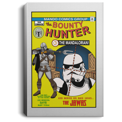 "Housewares White / 8"" x 12"" The Bounty Hunter Comic Premium Portrait Canvas"