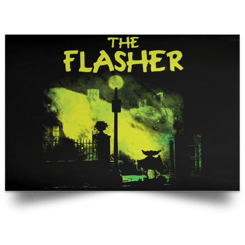 "Housewares Black / 18"" x 12"" The Flasher Landscape Poster"