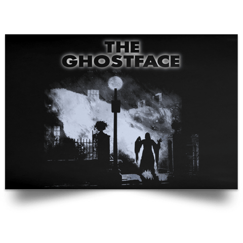 "Housewares Black / 18"" x 12"" The Ghostface Landscape Poster"