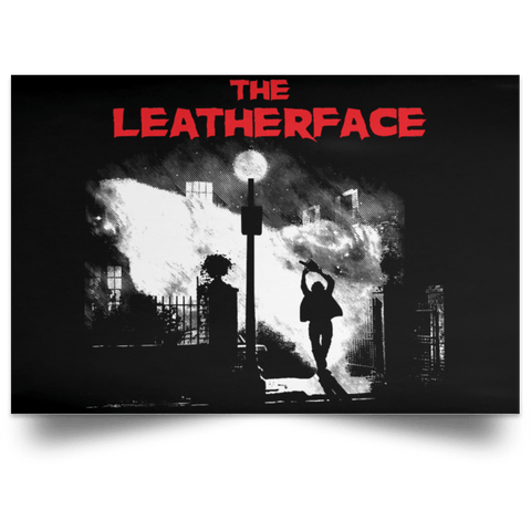 "Housewares Black / 18"" x 12"" The Leatherface Landscape Poster"