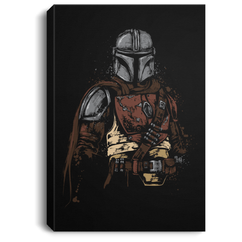 "Housewares Black / 8"" x 12"" The Mandalorian Premium Portrait Canvas"