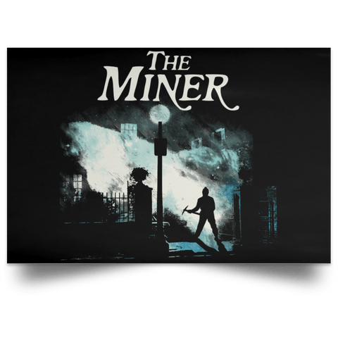 "Housewares Black / 18"" x 12"" The Miner Landscape Poster"