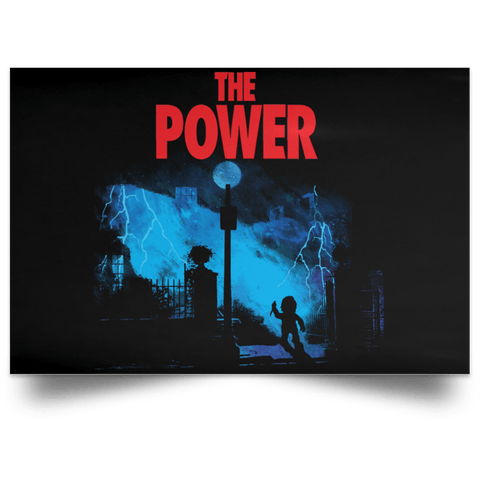 "Housewares Black / 18"" x 12"" The Power Landscape Poster"