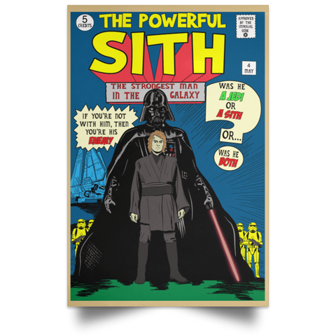"Housewares Tan / 12"" x 18"" The Powerful Sith Comic Portrait Poster"
