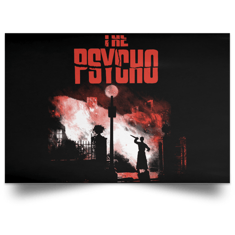 "Housewares Black / 18"" x 12"" The Psycho Landscape Poster"