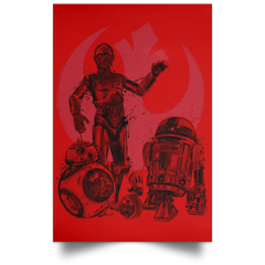 "Housewares Red / 12"" x 18"" The Rise of Droids Portrait Poster"