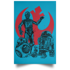 "Housewares Turquoise / 12"" x 18"" The Rise of Droids Portrait Poster"