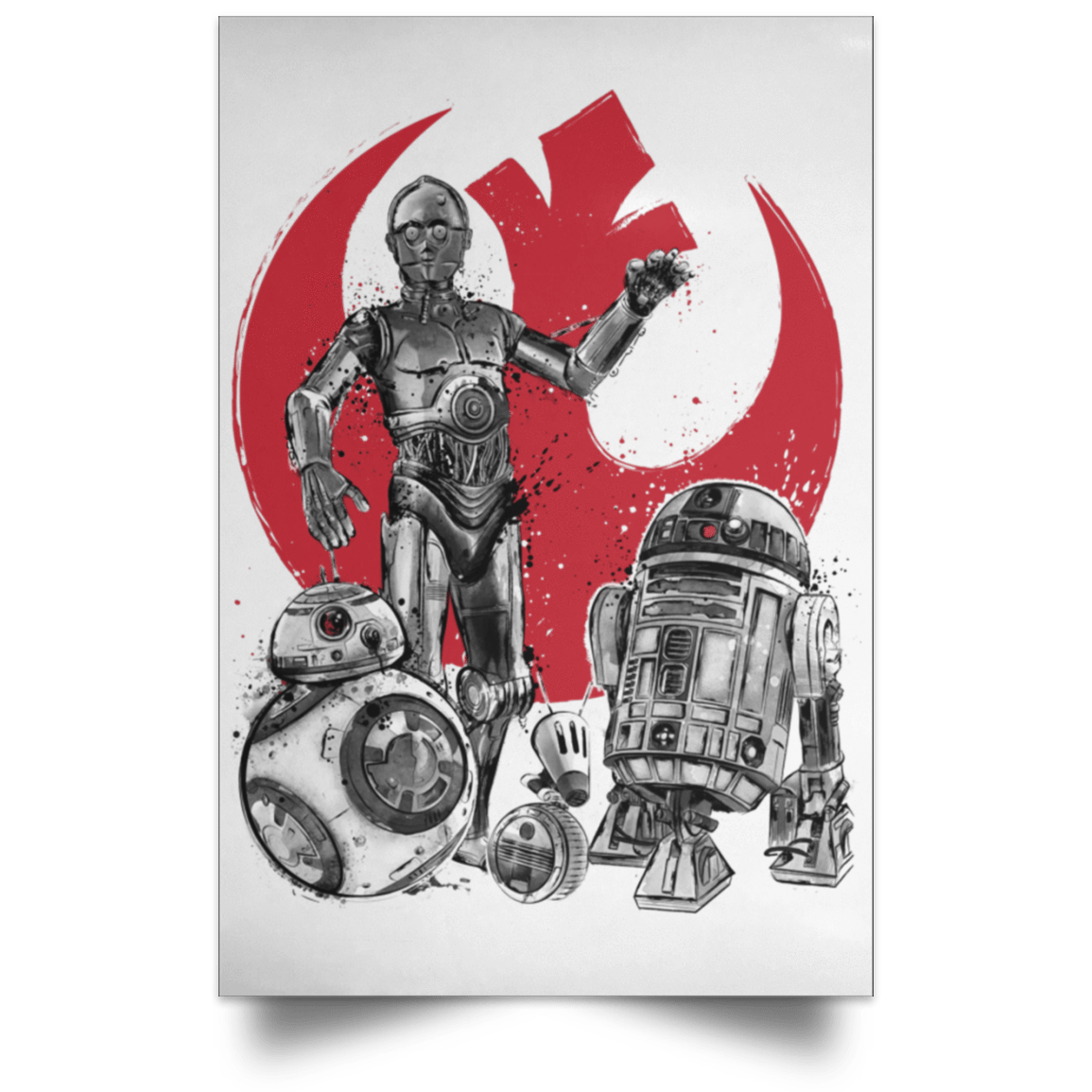"Housewares White / 12"" x 18"" The Rise of Droids Portrait Poster"