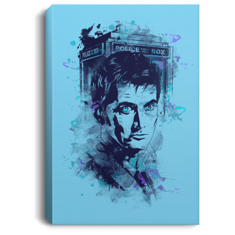 "Housewares Columbia Blue / 8"" x 12"" Water Colors Tenth Doctor Premium Portrait Canvas"