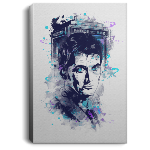 "Housewares White / 8"" x 12"" Water Colors Tenth Doctor Premium Portrait Canvas"