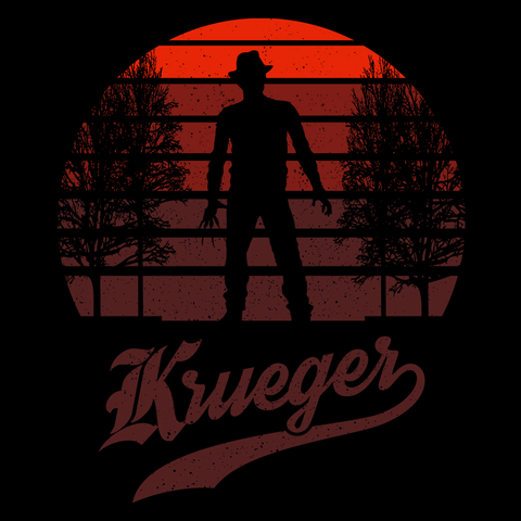 Horror Sun Set Krueger