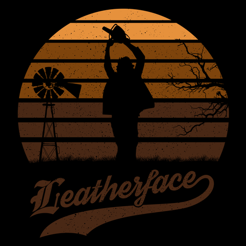 Horror Sun Set Leatherface