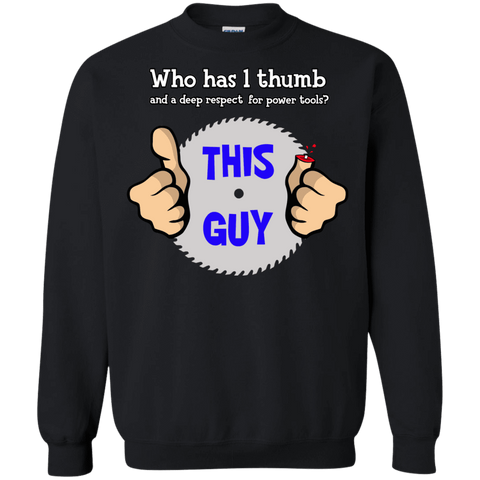 1-thumb Crewneck Sweatshirt