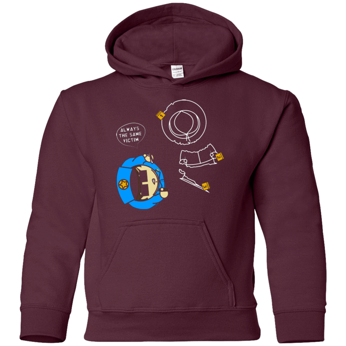 Sweatshirts Maroon / YS ALWAYS THE SAME VICTIM Youth Hoodie