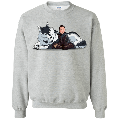 Arya and Nymeria Crewneck Sweatshirt