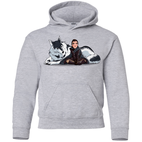 Arya and Nymeria Youth Hoodie