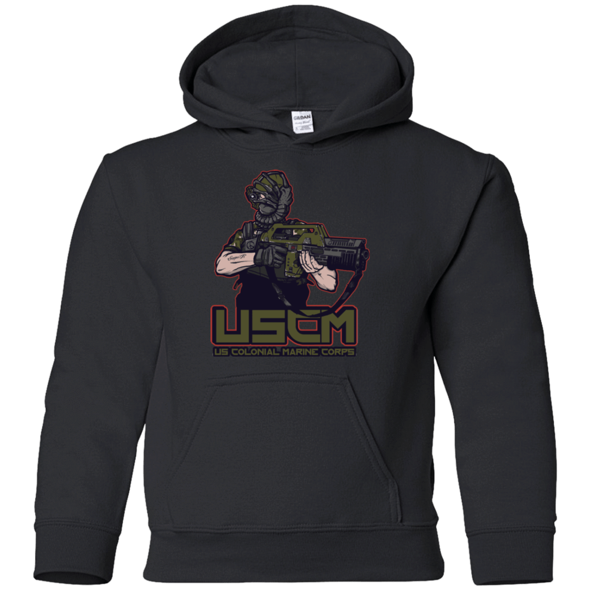 Sweatshirts Black / YS Colonial Facehugger Youth Hoodie