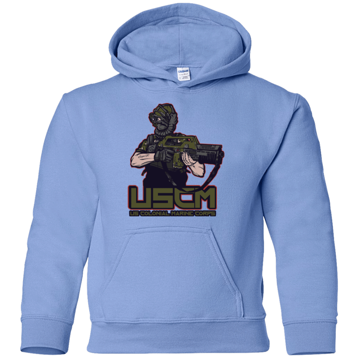 Sweatshirts Carolina Blue / YS Colonial Facehugger Youth Hoodie