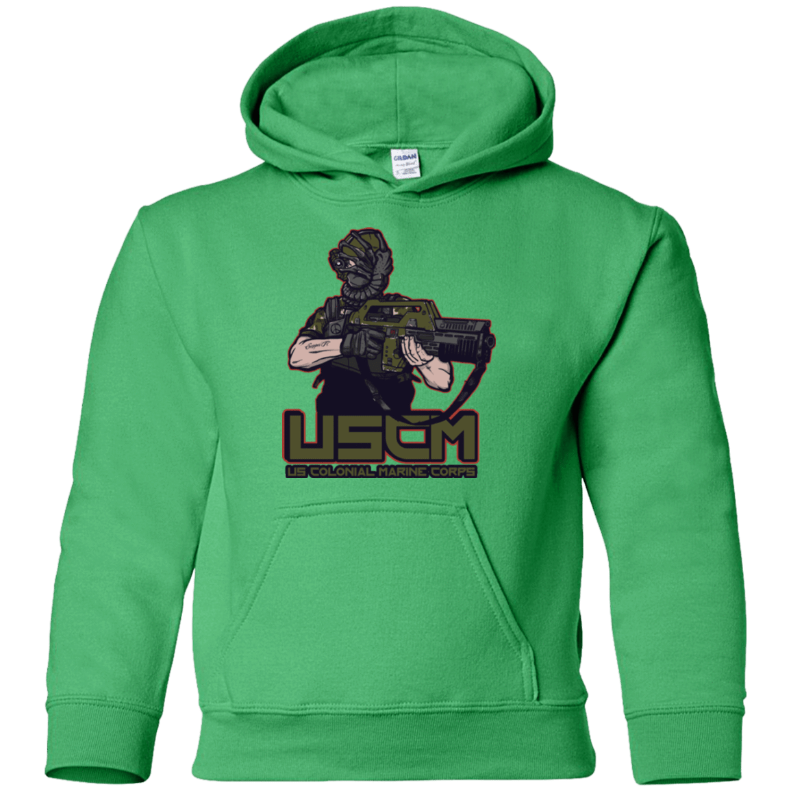 Sweatshirts Irish Green / YS Colonial Facehugger Youth Hoodie