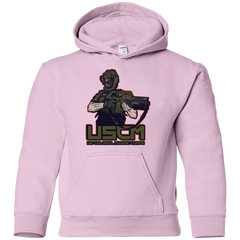 Sweatshirts Light Pink / YS Colonial Facehugger Youth Hoodie