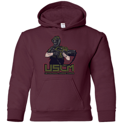 Sweatshirts Maroon / YS Colonial Facehugger Youth Hoodie