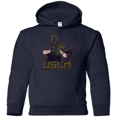 Sweatshirts Navy / YS Colonial Facehugger Youth Hoodie