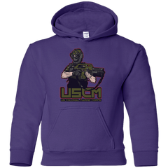 Sweatshirts Purple / YS Colonial Facehugger Youth Hoodie