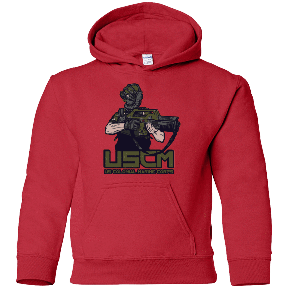 Sweatshirts Red / YS Colonial Facehugger Youth Hoodie