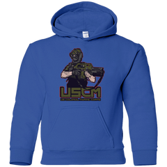 Sweatshirts Royal / YS Colonial Facehugger Youth Hoodie