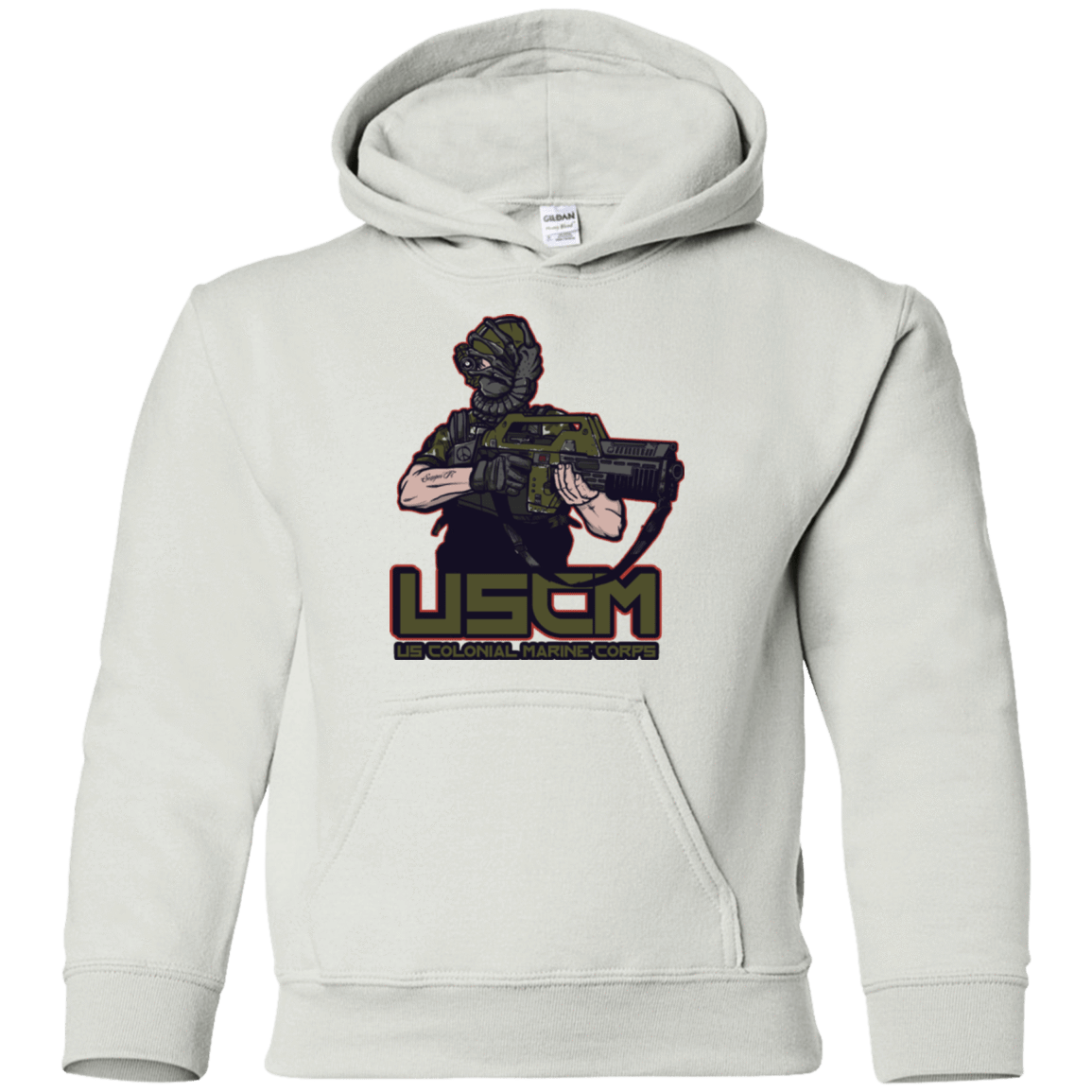 Sweatshirts White / YS Colonial Facehugger Youth Hoodie