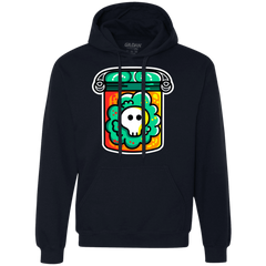 Sweatshirts Navy / S Cute Skull In A Jar Premium Fleece Hoodie