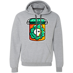 Sweatshirts Sport Grey / L Cute Skull In A Jar Premium Fleece Hoodie