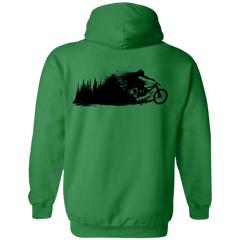 Don't Leave the Forest Back Print Pullover Hoodie