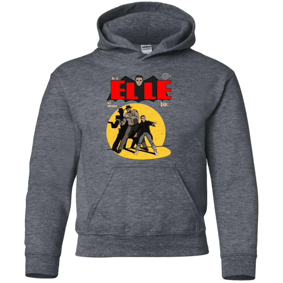 Sweatshirts Dark Heather / YS Elle N11 Youth Hoodie